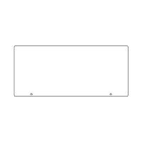トークナビ2専用表示板 表示:白無地 (881-99)