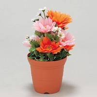 造花鉢 バラ ガーベラ (935-13)
