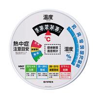熱中症注意目安付温湿度計直径300mm