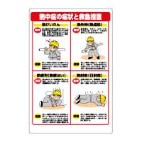 熱中症対策標識 症状と救急措置 (HO-502)