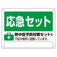 熱中症対策標識 熱中症予防対策セット (HO-5179)