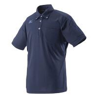 ミズノワークポロシャツ半袖ネイビーL ネイビー L (HO-626NB-L)