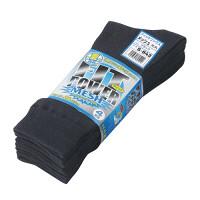 フィットパワーメッシュ靴下4足組(黒)