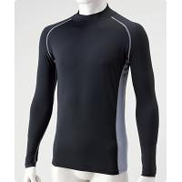 冷感パワーストレッチシャツ長袖黒M