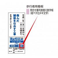 予告・説明看板問合せ番号 マグネット 表示:0 (383-510)