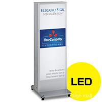LED式電飾スタンド看板 ADO-930N2E-LED-S シルバー 高さ1400mm