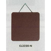 表示プレートH ドアサイン 両面 ブラウン 表示:無地 (CL3220-N)