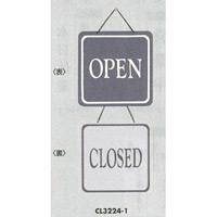 表示プレートH ドアサイン 両面 グレー 表示:OPEN⇔CLOSED (CL3224-1)