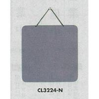 表示プレートH ドアサイン 両面 グレー 表示:無地 (CL3224-N)