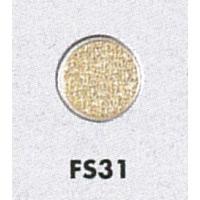 表示プレートH 透明ガラス衝突防止プレート 丸型 素材:ステンレス 模様あり (FS-31)