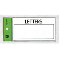 表示プレートH 郵便受表示 80×150mm 表示:LETTERS (HB159-2)