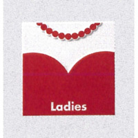 表示プレートH トイレ表示 陶磁器製 洋服マーク 表示:女子 (SCP-4)
