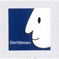 表示プレートH トイレ表示 陶磁器製 顔マーク 表示:男子 (SCP-9)