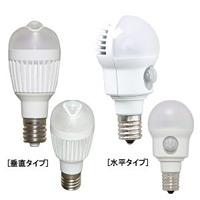 人感センサー付LED電球小型 垂直 昼白 (54915-1*)
