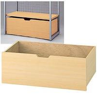 木製収納トロッコ W900用 クリア色 (49981-1*)