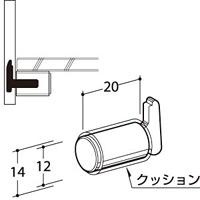 ELSC-12 ガラス棚板用 EL柱ダボ12 (54436***)