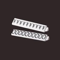 ニュープライスキューブ補充用単品 S用 (白/黒文字)一袋20粒入 種別:0 (07107BK0)