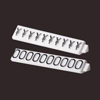 ニュープライスキューブ補充用単品 M用 (白/黒文字)1袋20粒入 種別:0 (07106BK0)