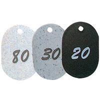 グラニット番号札 (1~50) ブラック (11802BLK)