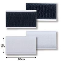 イージーマジックテープ 25×50 10セット入 カラー:ブラック (39397BLK)