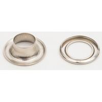 ハトメ 真鍮アイレット シルバー 仕様:φ12mm/100セット入 (56810N28)