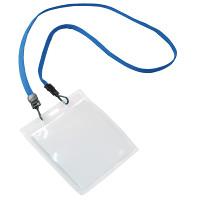 NEWフックストラップ名札 2 (名札パスケーストーメー付) 種別:ブルー (31277BLU)