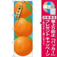 のぼり旗 オレンジ 絵旗 -1 (21412) [プレゼント付]