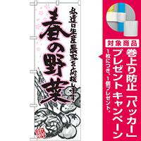 のぼり旗 春の野菜 イラスト (21906) [プレゼント付]