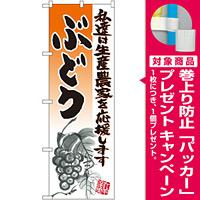 のぼり旗 ぶどう イラスト (21978) [プレゼント付]