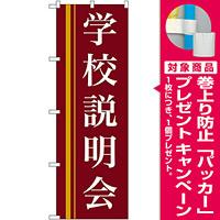 のぼり旗 学校説明会 エンジ (22329) [プレゼント付]