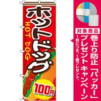 のぼり旗 ホットドッグ 内容:100円 (SNB-653) [プレゼント付]