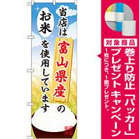 ご当地のぼり旗 富山県産 内容:お米 (SNB-903) [プレゼント付]