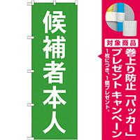 選挙のぼり旗 候補者本人 (GNB-1919) [プレゼント付]