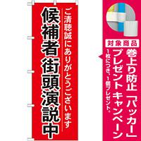 選挙のぼり旗 候補者街頭演説中 (GNB-1926) [プレゼント付]