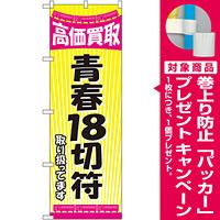 金券ショップ向けのぼり旗 内容:青春18切符 (GNB-2106) [プレゼント付]