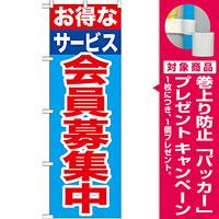 のぼり旗 会員募集中 お得なサービス (GNB-1117) [プレゼント付]
