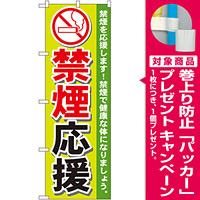 のぼり旗 禁煙応援 (GNB-147) [プレゼント付]