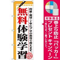 のぼり旗 無料体験学習 (GNB-1567) [プレゼント付]