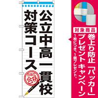 のぼり旗 公立中高一貫校対策コース (GNB-1587) [プレゼント付]