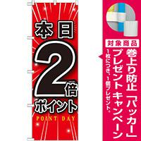 のぼり旗 本日2倍ポイント (GNB-1697) [プレゼント付]