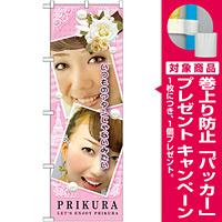 のぼり旗 プリクラ ピンク (GNB-1723) [プレゼント付]