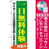 のぼり旗 一日無料体験 (GNB-1798) [プレゼント付]