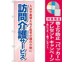 のぼり旗 訪問介護サービス 入浴や着替えなど・・ (GNB-1805) [プレゼント付]