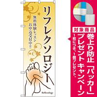 のぼり旗 リフレクソロジー 無料体験レッスン (GNB-2496) [プレゼント付]