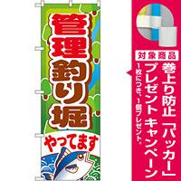 のぼり旗 管理釣り堀 (GNB-399) [プレゼント付]