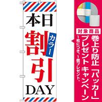 のぼり旗 本日カラー割引DAY (GNB-513) [プレゼント付]
