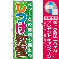 のぼり旗 しつけ教室 (GNB-562) [プレゼント付]