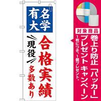 のぼり旗 有名大学 合格実績 現役多数あり (GNB-780) [プレゼント付]