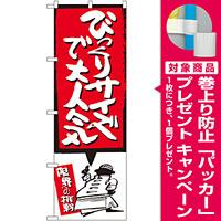 のぼり旗 びっくりサイズで大人気 赤 (SNB-1197) [プレゼント付]