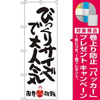 のぼり旗 びっくりサイズで大人気 限界挑戦 (SNB-1246) [プレゼント付]